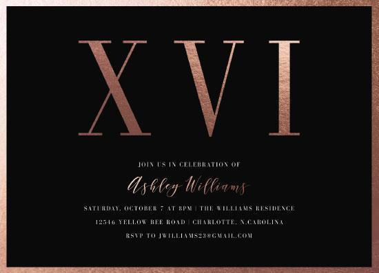 invitations - Roman Sixteen by Alethia Frye