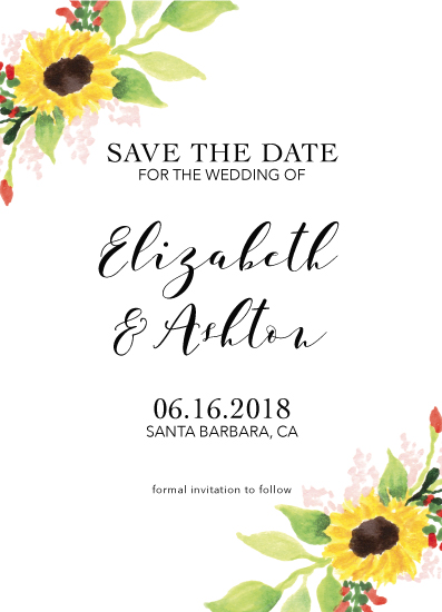 save the date cards - Sunflower Sunshine by Jordyn Alison Designs