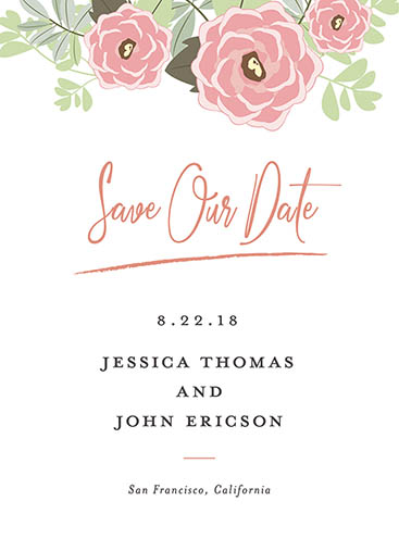 save the date cards - Simply Floral by John Argie Catangay