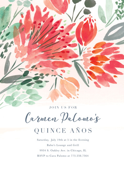 invitations - Quince Anos by Morgan Ramberg