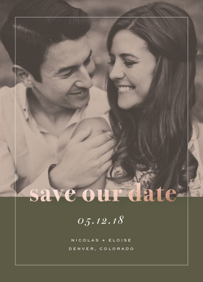 save the date cards - Save Our Date - Rose by Fox and Hound