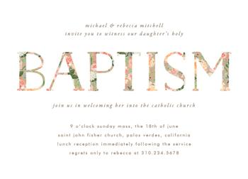 Floral Filled Baptism