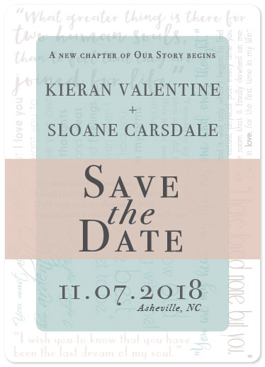 save the date cards - Literary Love by S LaMarche