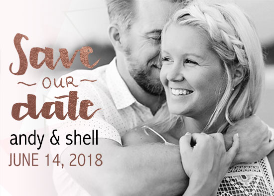 save the date cards - Excited by Sarah Leigh