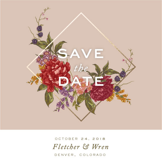 save the date cards - Fall Bouquet by Fox and Hound
