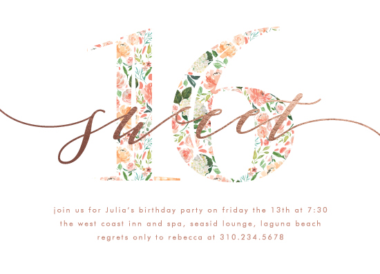 invitations - Floral Filled 16 by Becky Nimoy