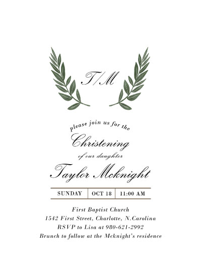 invitations - Laurel Crest by Alethia Frye