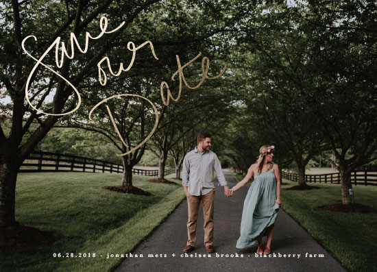 save the date cards - simple script by Faith Dorn