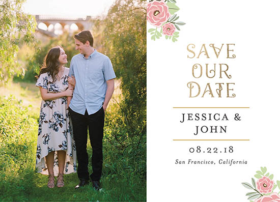save the date cards - Garden memories by John Argie Catangay