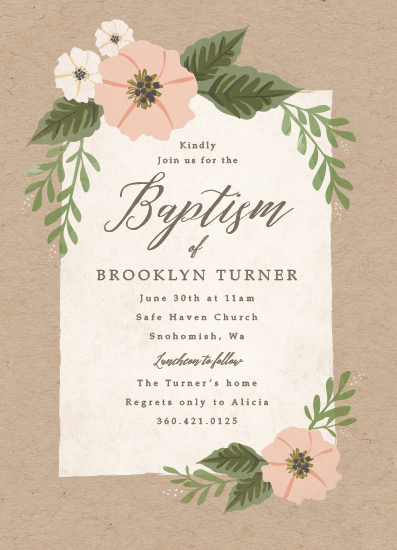 invitations - kraft and florals by Karidy Walker
