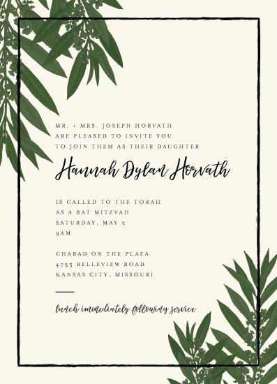 invitations - Modern Greenery by Stephanie Given