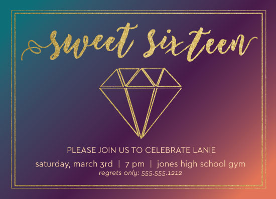 invitations - Ombre Diamond by Angie Pope