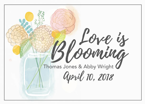 save the date cards - Love is Blooming by Sarah Leigh