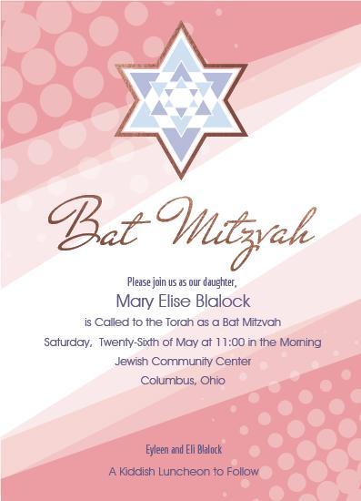 invitations - Bat Mitzvah Blush by Cindy Taylor
