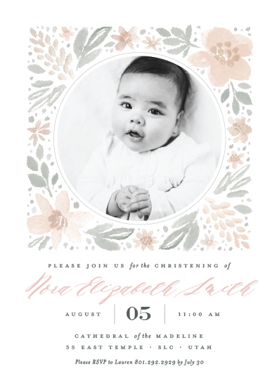 invitations - Floral Frame by Robert and Stella