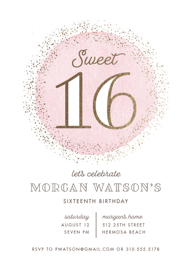 invitations - Golden Sweet 16 by Shirley Lin Schneider