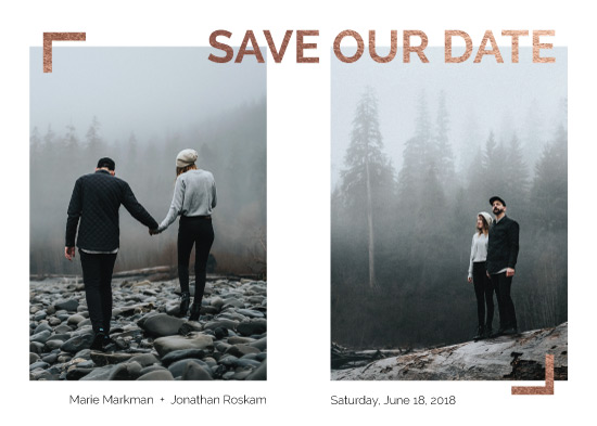 save the date cards - Picturesque Minimal by Juliana Nahas