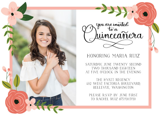 invitations - Scrolling Quinceanera by Juliana Nahas