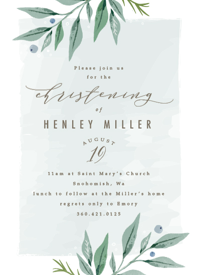 invitations - soft branches by Karidy Walker