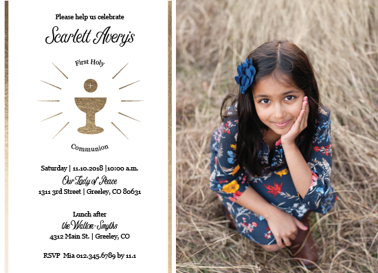 invitations - Communion Cup by MoMint