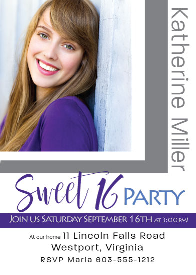 invitations - Beautiful Girl 16th Party by Kristen Niedzielski