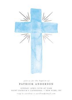 Baptism Watercolor Cross