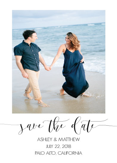 save the date cards - sea simplicity by Liza Frozen