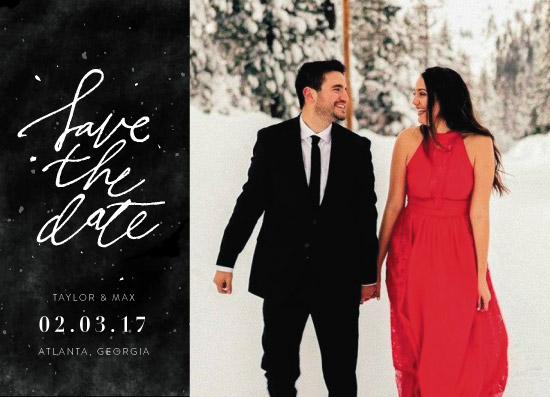 save the date cards - snowy by Cass Loh