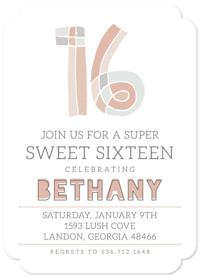 invitations - Super Sweet 16 Muted by Allison Massingill