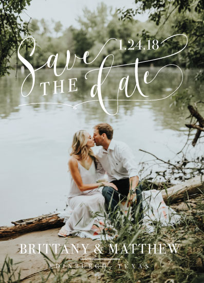 save the date cards - Lake Script Save the Date by Allison Massingill