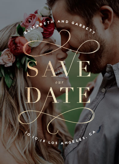 save the date cards - Swirl by Leah Bisch