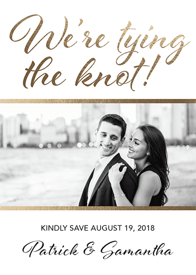 save the date cards - Tying the Knot by Tammy Kerbawy