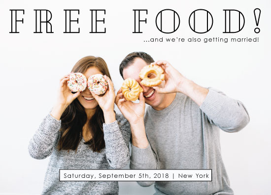 save the date cards - Free Food by Kendal Leffler