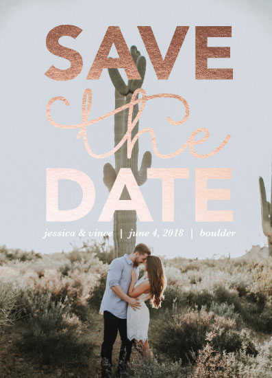 save the date cards - Large Top Save by Angie Pope