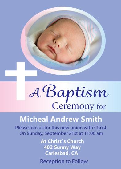 invitations - Religious Baptism Invite by Kristen Niedzielski