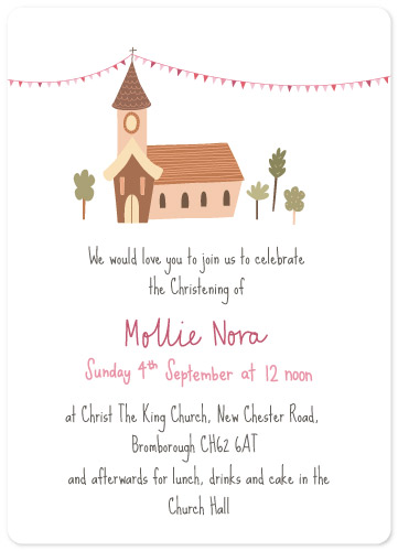 invitations - Church Hall by Emily Atherton