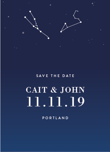 save the date cards - Star Destiny by carohug