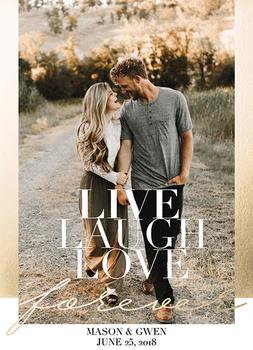 Save the Date - Live Laugh Love