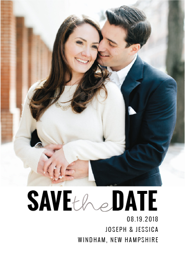 save the date cards - Simple Silver by Tammy Kerbawy