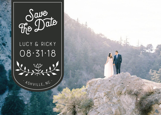 save the date cards - Banner of Type by Nikki Castiglione