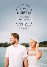Save the Date Badge by Nikki Castiglione