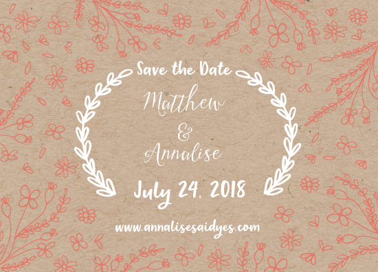save the date cards - Botanical Lines by Harmony Cornwell