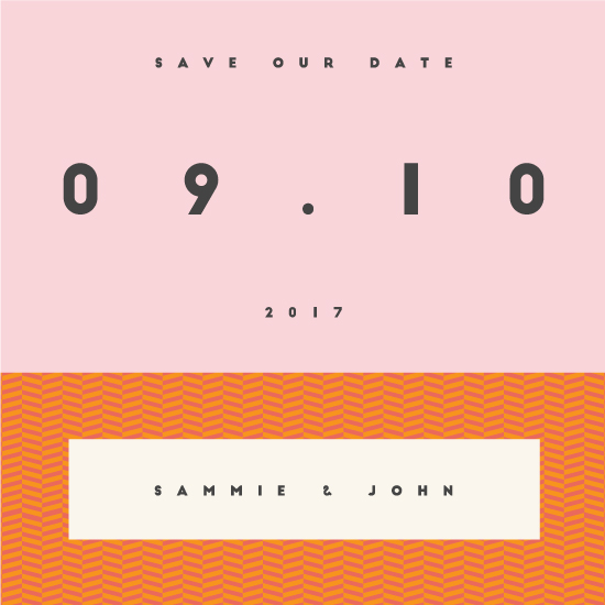 save the date cards - Modern by Blandine Mathieu