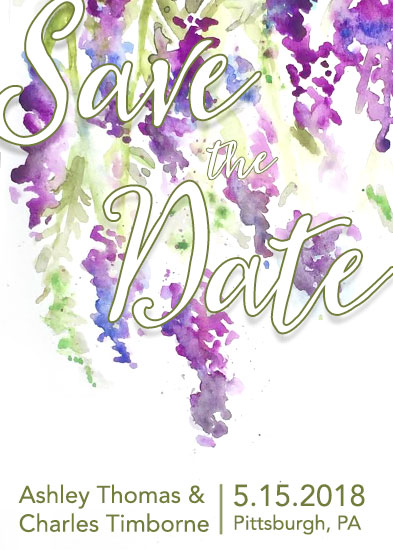 save the date cards - Lavender Fields by Sarah Leigh