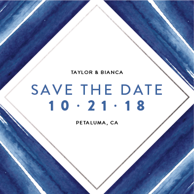 save the date cards - Blue Diamond by carohug
