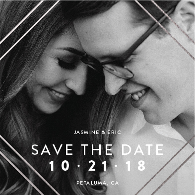 save the date cards - Silver Lines by carohug