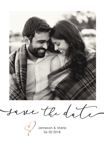 save the date cards - Polaroid Save the Date by Anna Hirsch