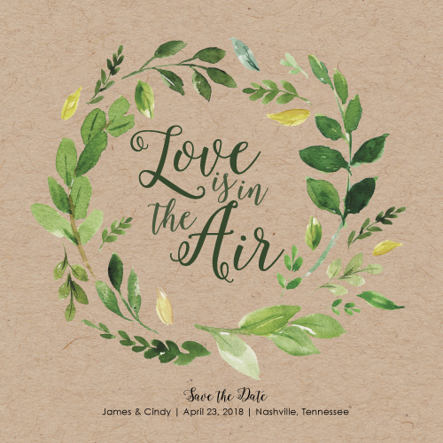 save the date cards - Love is in the Air Spring Save the Date by Anna Hirsch