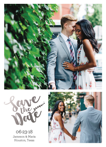 save the date cards - 2 Photo Foil Vine by Anna Hirsch