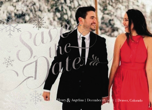 save the date cards - Snowflake Save the date by Anna Hirsch
